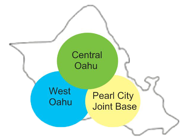 Oahu delivery area